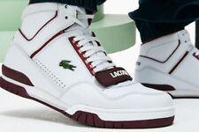 Lacoste Men's Missouri Sneaker WHITE / BURGUNDY / DARK SIZE 9.5 M