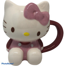 More details for hello kitty ceramic mug sanrio rare pink bow height 4.75 inches