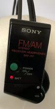 Sony SRF-R7 AM/FM Radio Headphones Walkman Stereo Vintage