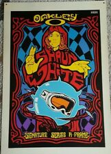 SHAWN WHITE - RARE - X GAMES  - POSTER BOARD PSYCHEDELIC  OAKLEY ADVERTISMENT