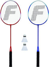 Franklin Sports 2 Player Badminton Racquet Set, One Size, Red, White, Blue (5262