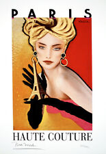 Original Vintage Limited Edition Print Haute Couture by Razzia Hand Signed 2007