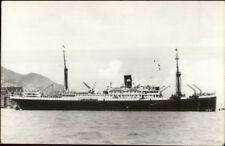 Steamship MV Tjisadane - Royal Interocean Lines Real Photo Postcard