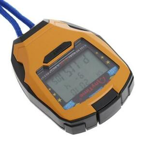 3 Row100 Lap 1/1000s Digital Sport Counter Timer Professional Athletic Stopwatch