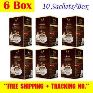 6X Cordyceps Coffee Mixed Lingzhi Leafness Ganoderma Extract Healthy Care.