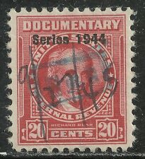 U.S. Revenue Documentary stamp scott r393 - 20 cent issue of 1944 - #2