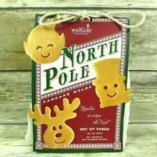 Williams Sonoma North Pole Pancakes 3pc. Mold Set Elf Snowman Reindeer NWT