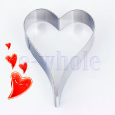 Heart Shape Buscuit Cookie Cake Jelly Cutter Tin Mould Baking DIY tool NEW TW