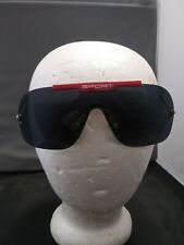 Vintage 1980s Red Sport Aviator Sunglasses Rose all weather  lenses wire frame