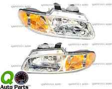New Pair Headlight Lens 96-00 Caravan Voyager Town & Country w/out Quad Lamps