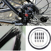 New MTB Bike Bicycle Complete Front & Rear Inner Outer Gear Brake Wire Cable 2m