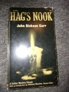 1963 Hag's Nook By John Dickson Carr A Collier Mystery Classic First Edition