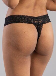 BOUX AVENUE Size 16 BLACK Lace LIA Lacey Sparkle Thong Lacy Knickers Underwear
