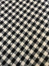Black and White Gingham Check Fabric BY THE YARD