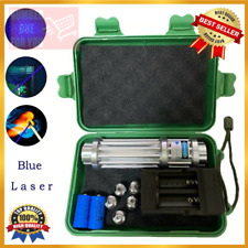 High Power 5000000m Blue Laser Pointers 450nm Flashlight Burning With Battery