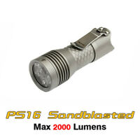 MecArmy PS16 Cree XP-G3 S5 LED SS Compact EDC Flashlight Torch - Sandblasted