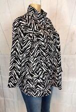 Zenergy By Chicos Women's Size 3-XL Casual Jacket 3/4 Sleeve Zip Up Blazer Top -