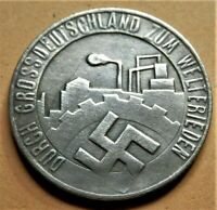 WW2 GERMANY COMMEMORATIVE COLLECTORS COIN REICHSMARK '35 DIE SAAR 24 mm NSD