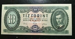 1962 HUNGARY 10 FORINT NICE UNCIRCULATED BANK NOTE