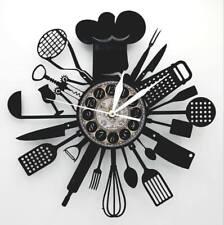 Cheif Vinyl Record Clock Kithen Decor Kitchen Clocks