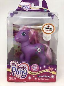 My Little Pony G3 MIB MLP 2004 Hasbro Target Exclusive Jewel Pony Juniper Jade