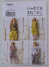 VOGUE Designer Marcy Tilton Scoopneck Knit Dress Pattern 8975 XS-Small-Med Uncut