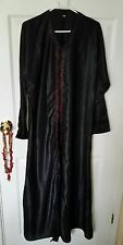 Size 52/S Black Open Abaya Maxi Kaftan Dress Beaded Party Occasion Wedding Hijab