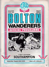 BOLTON WANDERERS V SOUTHAMPTON DIVISION ONE  25/8/79