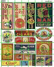 2001 DAVE'S DECALS TOBACCO SIGNAGE 5 CENT CIGARS CHEWING EARLY MID 20TH CENTURY