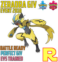 6IV BATTLE READY ZERAORA ⚔️ (+ITEM!) 🛡 for Pokemon SWORD & SHIELD ⚔️ Legit