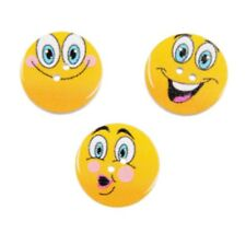 6pcs Emoji Smile Face Painted Buttons Coat Shirt Button Sewing Craft DIY Kids