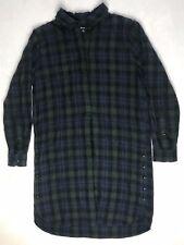 Madewell Plaid Flannel Shirt Dress size XXS Button-detail
