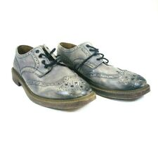 ALDO MR B's Men's Leather Brogue Shoes Size 11 Gray Wing Tip Oxford Shoes