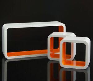 Floating Wall Mount Shelf Cube Storage Display Shelves Set Of 3 Modern Design