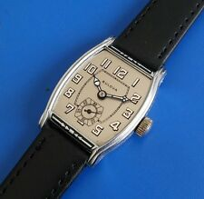 Exquisite Antique 1927 Mans Bulova Silver Tone Dial SERVICED RUN'S EXCELLENT