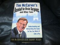 Baseball for Brain Surgeons and Other Fans Book Autographed Tim McCarver JSA Auc