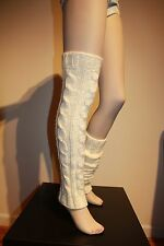 "SALE 31"" Hand Knit Leg Warmers Boot cuffs Ballet Dance Yoga by IrinaKdesigns"