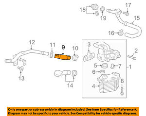 Cadillac GM OEM 16-18 CT6 3.0L-V6 Engine Oil Cooler-Inlet Hose 23388928