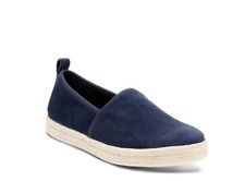 Clarks Women's Azella Revere Navy Suede Slip On Shoes 26116435