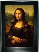 da Vinci Mona Lisa -Black Gallery Framed Canvas Print Repro 25 x 34