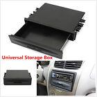 Universal Car Single Din Dash Radio Installation Pocket Kit Storage Box Black