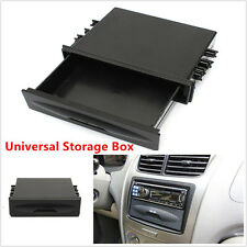 Universal Car Single Din Dash Radio Installation Pocket Kit Storage Box Black