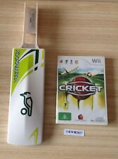Wii  CRICKET BUNDLE ~ CRICKET GAME + KOOKABURRA BAT *COMPLETE* ~ AUS PAL