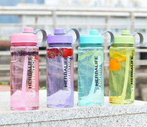 Herbalife 1000ml Large Water Bottle 32oz Space Sports Straw Cup Bottle 6 Colors