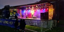 Mobile stage hire with generator pa lighting staff all inclusive £1600 per day