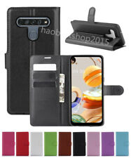 Leather slot wallet stand flip Cover Skin Case For LG K61/ Q61