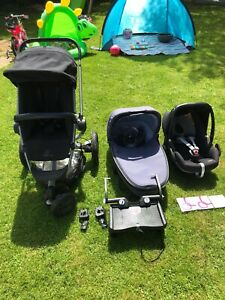 quinny buzz travel system black carrycot Car Seat