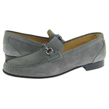 "Alex D ""Glendale"" Suede Bit Loafer, Men's Dress/Casual Shoes, Gray"