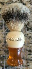 Vintage Shaving Brush Rubberset Orange Lucite Bottom