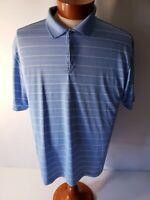 Nike Golf  DRI-FIT  Mens Blue Short Sleeve Polo Shirt Large
